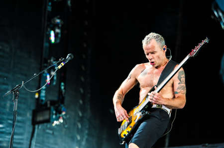 July 22, 2012 - Moscow, Russia - American rock band Red Hot Chili Peppers performing live at Luzhniki Stadium, Moscow, Russia.