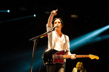 olimpiysky: 18 september, 2012 - Moscow, Russia - English alternative band Placebo performing live at Olimpiysky Stadium.