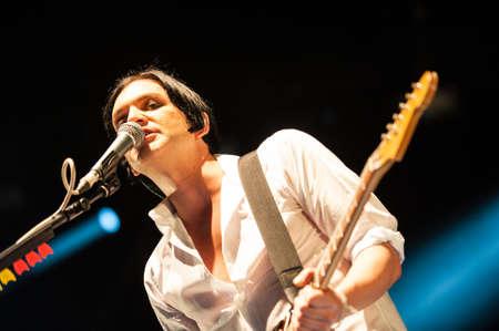 olimpiysky: 18 september, 2012 - Moscow, Russia - English alternative band Placebo performing live at Olimpiysky Stadium.