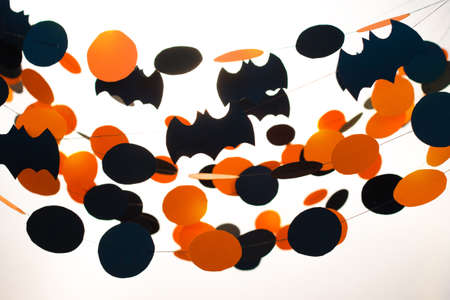 Halloween garlands on white background