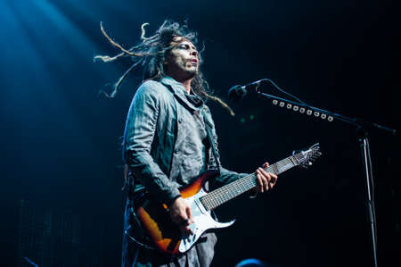 nu: 21 august, 2012 - Moscow, Russia - American alternative metal band Korn performing live at Stadium club