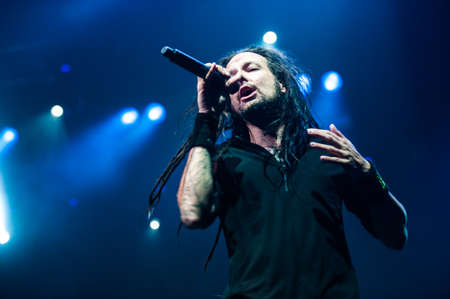 Korn: 21 august, 2012 - Moscow, Russia - American alternative metal band Korn performing live at Stadium club