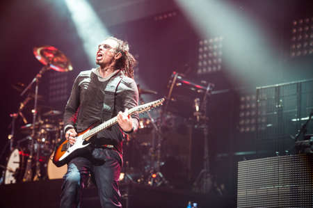 21 august, 2012 - Moscow, Russia - American alternative metal band Korn performing live at Stadium club