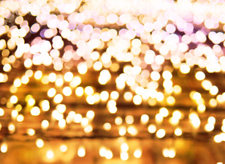 Abstract bokeh  background of Christmas lights Stock Photo