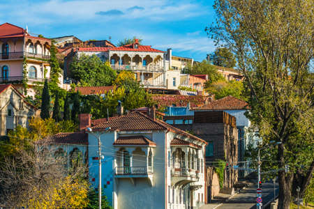 View of old buildings in Tbilisi, Georgia
