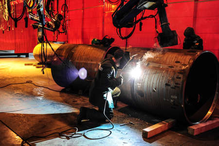 work area: CHELYABINSK, RUSSIA - CIRCA OCTOBER, 2010 - The Chelyabinsk Tube-Rolling Plant is one of the largest producers of steel tubes and pipes in Russia Editorial