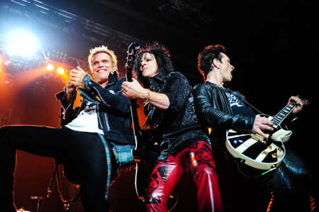 7 July, 2010 - Moscow, Russia - British rock singer Billy Idol performing live at Luzhniki stadium. Editorial