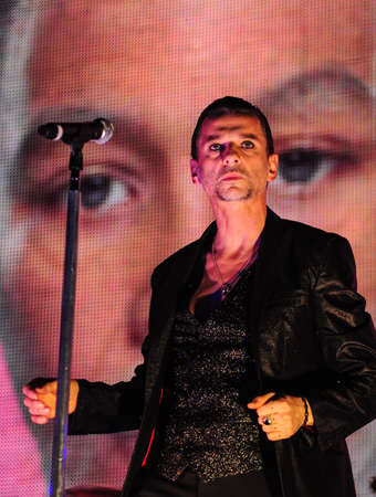 vocalist: 6 february, 2010 - Moscow, Russia - English electronic music band Depeche Mode performing live at Olimpiysky stadium. Editorial