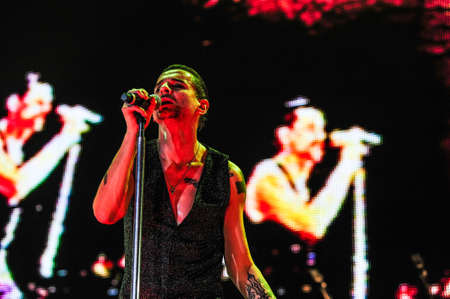 6 february, 2010 - Moscow, Russia - English electronic music band Depeche Mode performing live at Olimpiysky stadium. Editorial