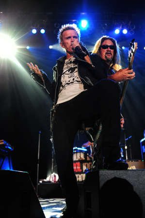 7 Juny, 2010 - Moscow, Russia - British rock singer Billy Idol performing live at Luzhniki stadium. Editorial