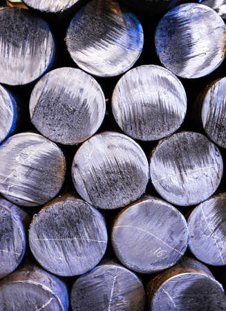 smelting plant: Steel rods in smelting plant