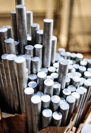 smelting plant: Aluminium rods in smelting plant