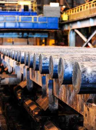 Steel rods in smelting plant Stock Photo - 24043077