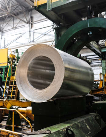 smelting plant: Roll of aluminium sheet in smelting plant