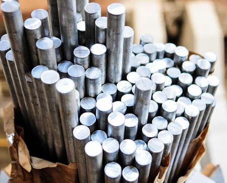 Aluminium rods in smelting plant