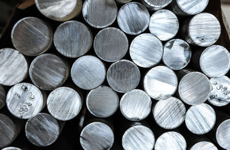 Aluminium rods in smelting plant photo