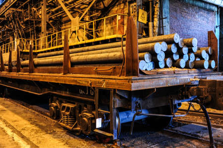 KAMENSK URALSKY, RUSSIA - CIRCA JULY, 2010  - Kamensk Uralsky Metallurgical Works (KUMZ in Russian abbreviation)  is one of the largest smelting plants in Russia Stock Photo - 24010324