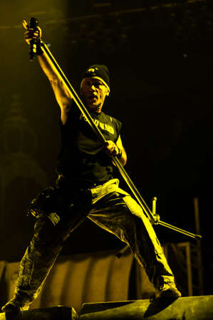 11 February, 2011 - Moscow, Russia - British heavy-meta band Iron Maiden performing live at Olimpiнылн stadium.