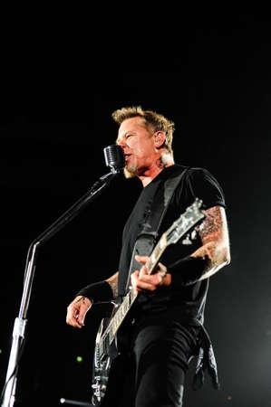 olimpiysky: 24 April, 2010 - Moscow, Russia - American rock band Metallica performing live at Olimpiysky stadium.