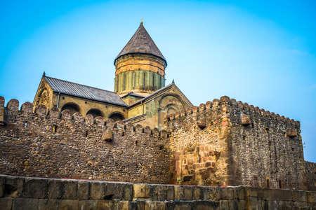 orthodox church: Sveti-Tskhoveli Cathedral in the georgian city of Mtskheta