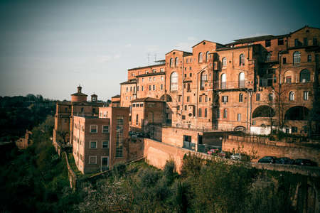 siena italy: Historical town of Siena, Italy. Toned picture