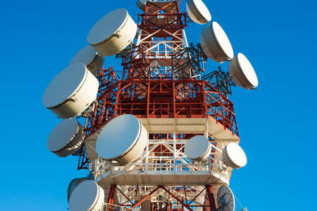 telecommunication equipment: Telecommunication tower Stock Photo