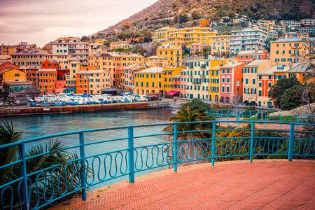 vintage: Nervi is een voormalig vissersdorp nu een badplaats van Genua in Ligurië regio van Italië
