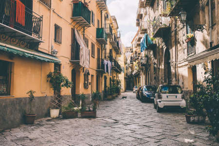 Common street in Palermo, Sicily, Italy