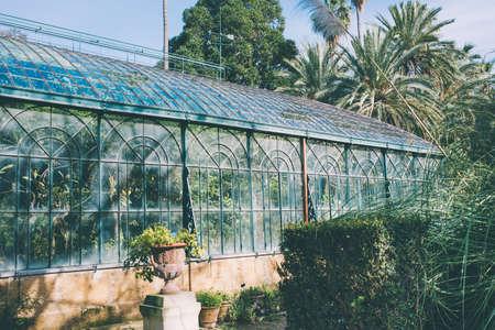 식물원에 온실입니다. 톤 이미지