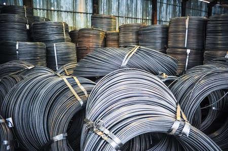 fittings: Rolls of aluminum metal fittings (steel armature)