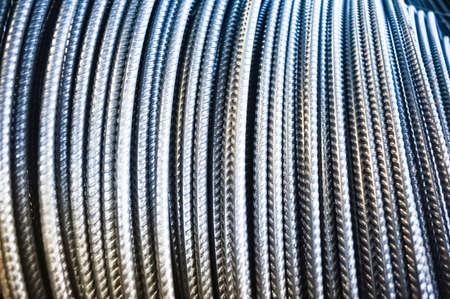 Rolls of aluminum metal fittings (steel armature)