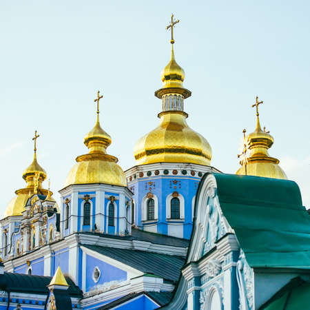 michael: Golden domes of St. Michael Cathedral in Kiev, Ukraine