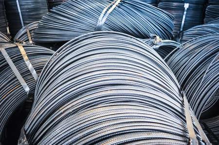 aluminum rod: Rolls of aluminum metal fittings (steel armature)