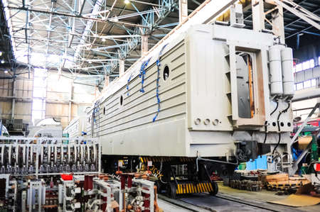 manufacture: NOVOCHERKASSK, RUSSIA - CIRCA JULY, 2011: Novocherkassk Electric Locomotive Plant, based in the Russian town of Novocherkassk, Russia