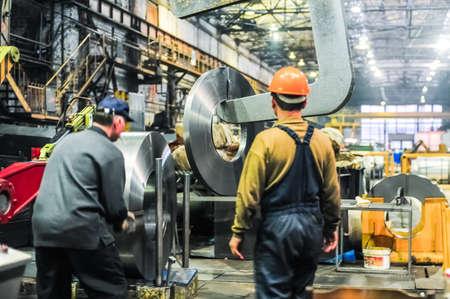 MOSKOU, RUSLAND - CIRCA mei 2011: Moskou Pipe Plant FILIT is een producent van carbon staal en roestvast staal gelaste buizen en pijpen, gevestigd in Moskou, Rusland