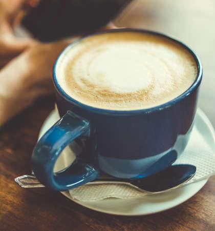 Gran taza de café. imagen de tonos Foto de archivo - 43590184
