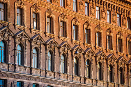 historical building: Old beautiful building in historical center of Saint Petersburg, Russia