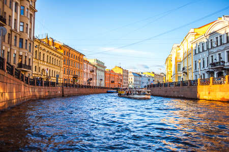 Moyka River in Saint Petersburg, Russia