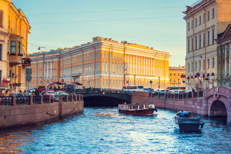 saint petersburg: Moyka River in Saint Petersburg, Russia