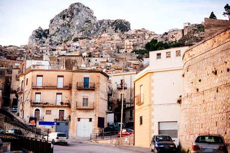 caltabellotta: Caltabellotta village on Sicily island, Italy