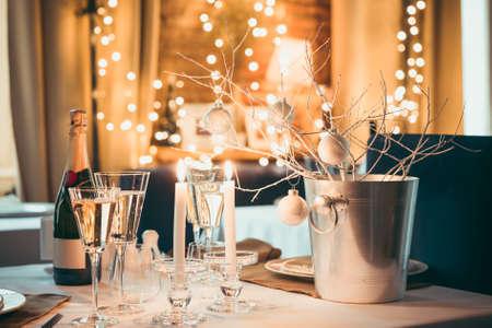 Weihnachten oder Neujahr Party Tabelle