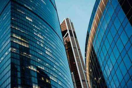 Rascacielos del centro de negocios internacional de la ciudad de Moscú en Moscú, Rusia.