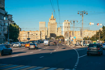 city road: General view of the main building of Ministry Of Foreign Affairs of Russia