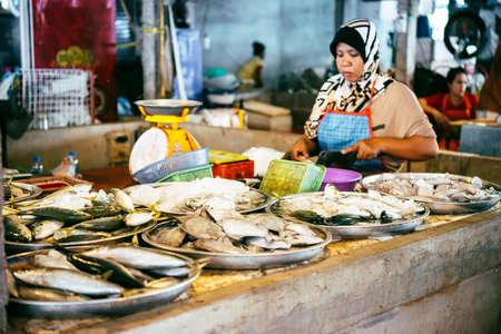 koh samui: KOH SAMUI, THAILAND - MARCH 14, 2016: Fish on sale at one of the street markets at Koh Samui, Thailand.