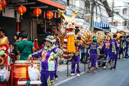 koh samui: KOH SAMUI, THAILAND - MARCH 18, 2016: Celebration of Chinese New Year in one of the villages at Koh Samui, Thailand.