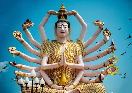 'koh samui': Statue of Shiva in Wat Plai Laem Temple on Koh Samui island in Thailand