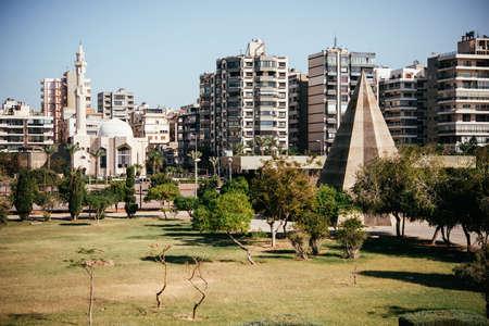 oscar niemeyer: View of International Fair of Tripoli architected by Oscar Niemeyer in Tripoli, Lebanon.