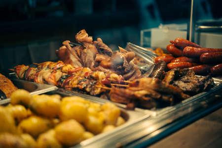 View of street food on sale in Budapest, Hungary. Reklamní fotografie - 83824057
