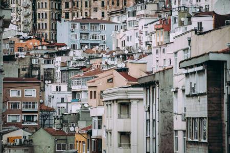 View of the buildings in Beyoglu, Istanbul, Turkey. Stock fotó