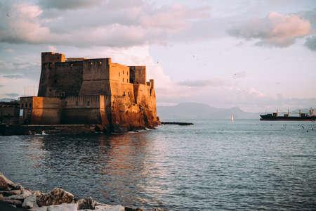 Castel dell'Ovo in Naples, Campania, Italy.